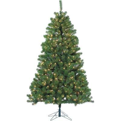 Gerson 7 Ft. Montana Pine 500-Bulb Clear Incandescent Prelit Artificial Christmas Tree