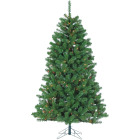 Gerson 7 Ft. Montana Pine 500-Bulb Multi Incandescent Prelit Artificial Christmas Tree Image 1